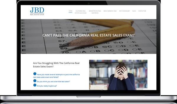 JBD Real Estate Tutor Website