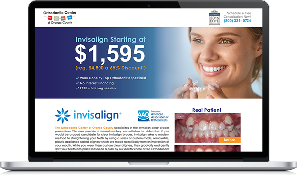 Orthodontic Center Landing Page
