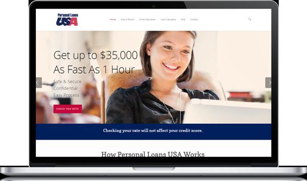 Personal Loan USA Website