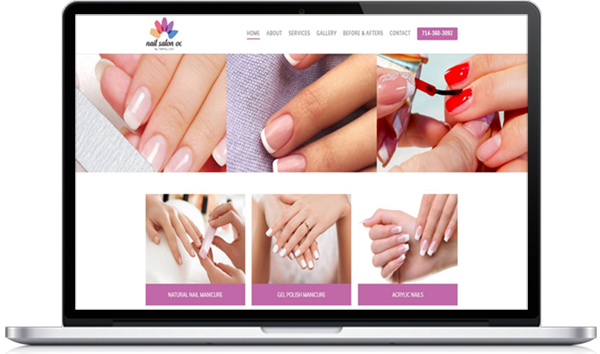 Nail Salon in OC Website