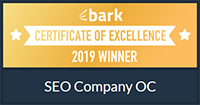 Certificate of Excellence from Bark