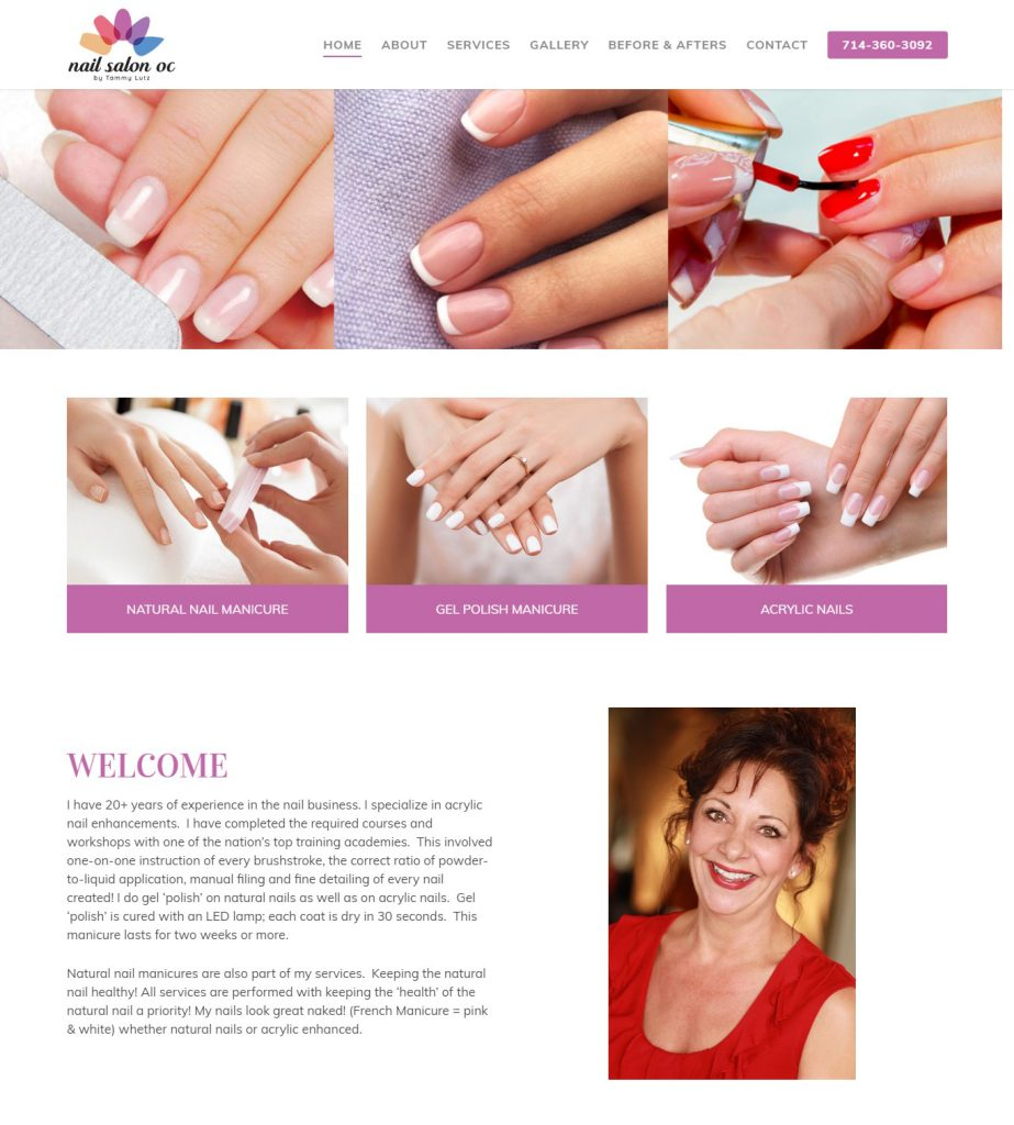 Nail Salon OC Website