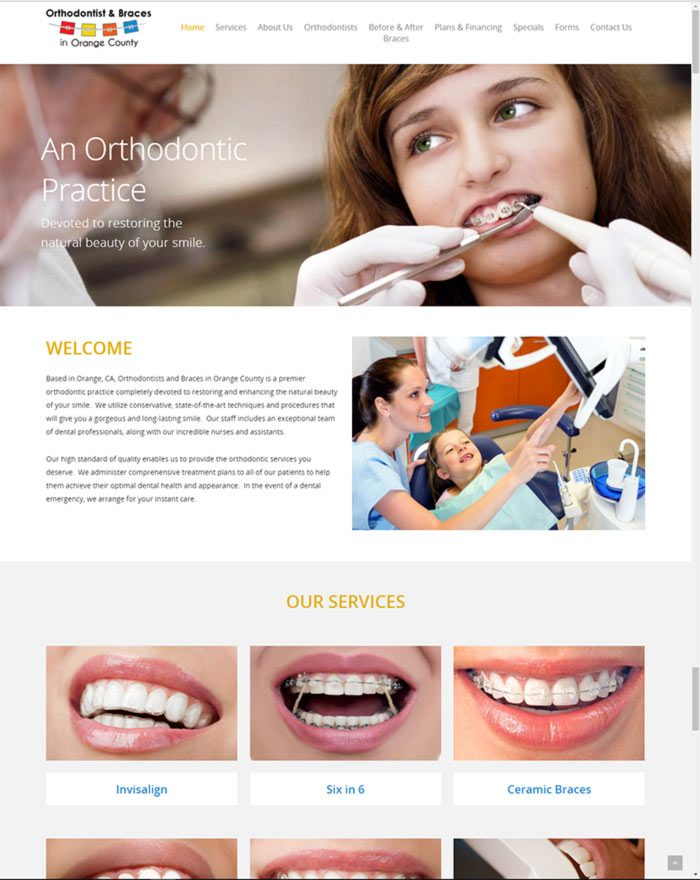 Orthodontist and Braces in OC Website