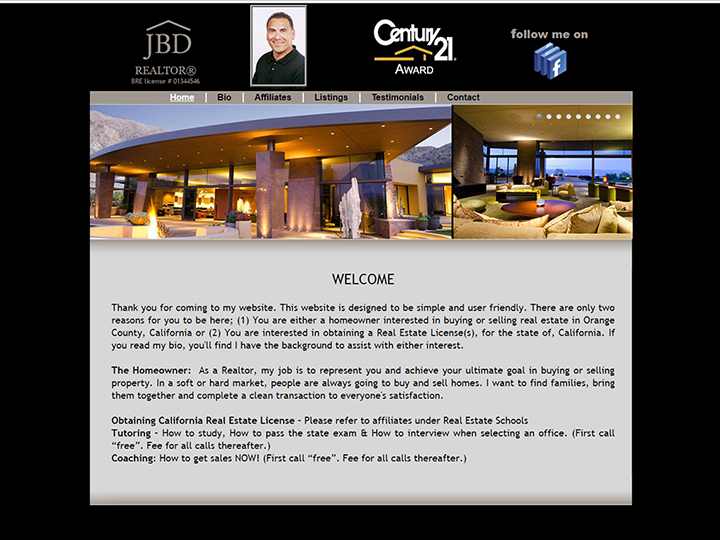 Jeremy Diaz Realtor Website